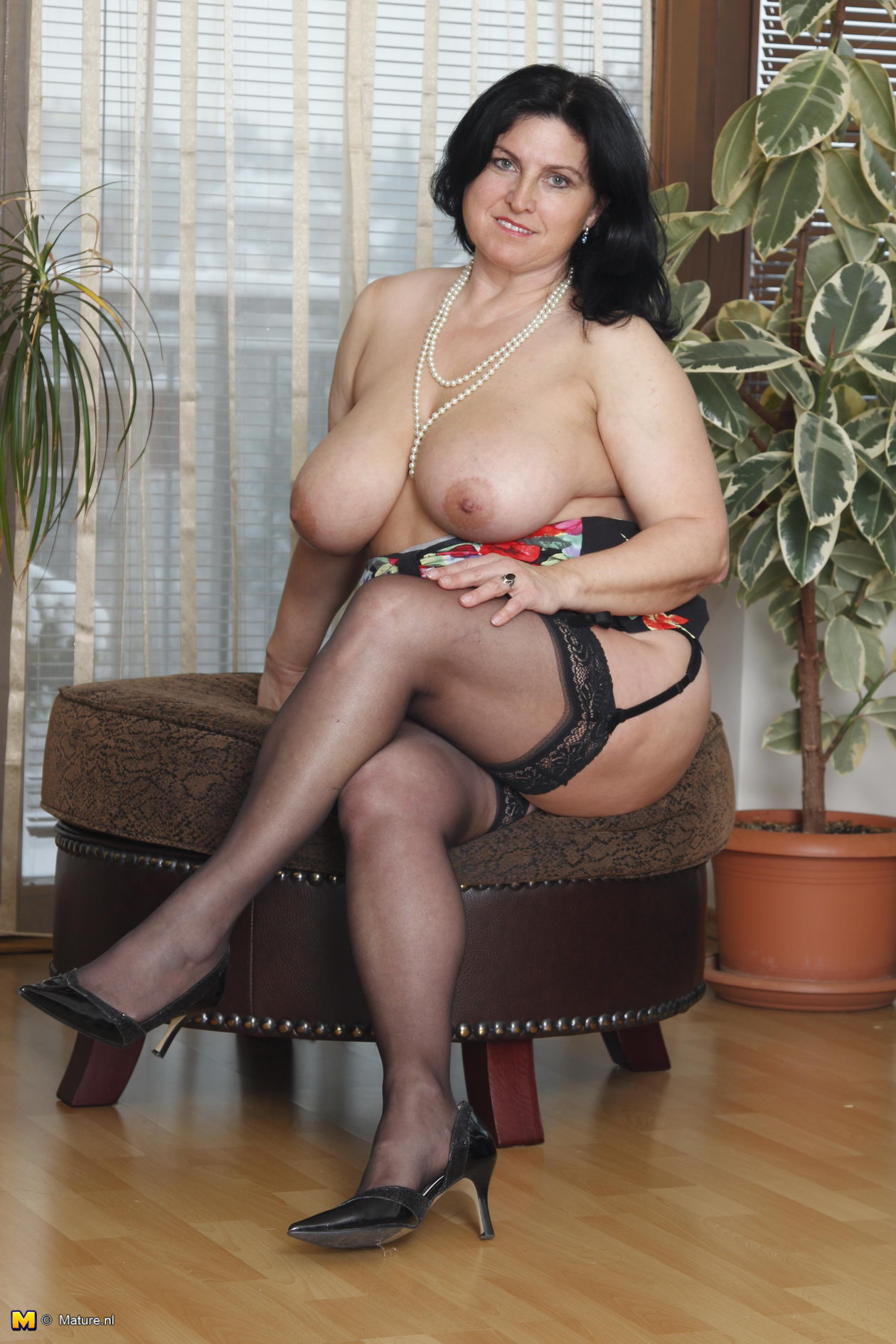 Mature big tits model