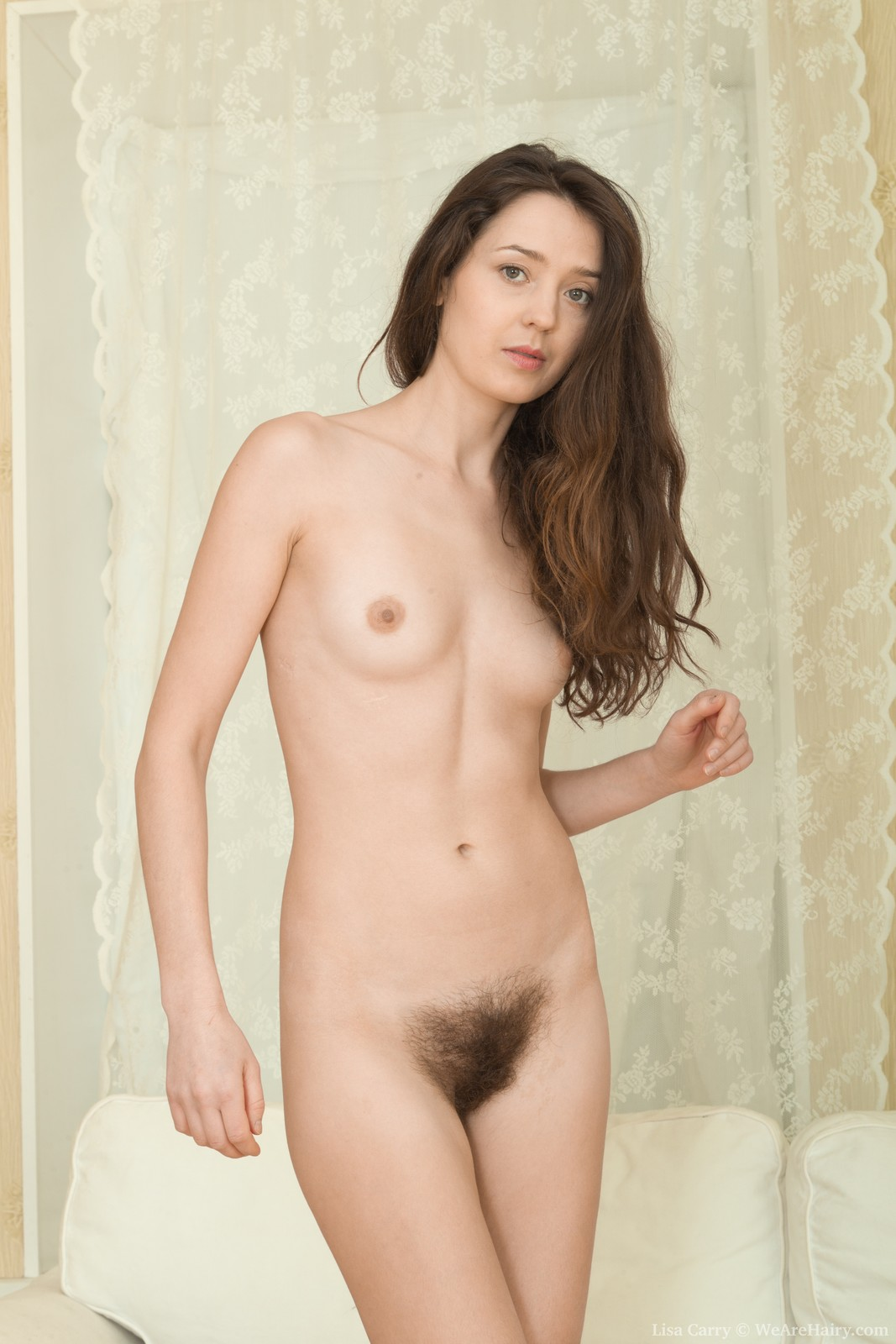 Pale nude woman