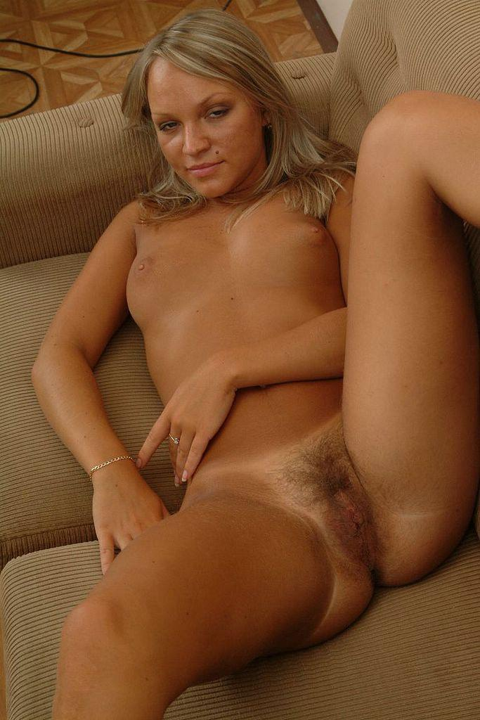 Hairy nude blonde and